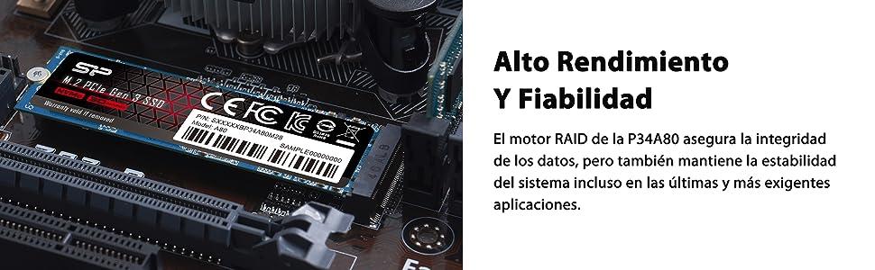 Unidad de Estado sólido PCIe Gen3x4 M.2 NVMe 512GB con velocidades ...