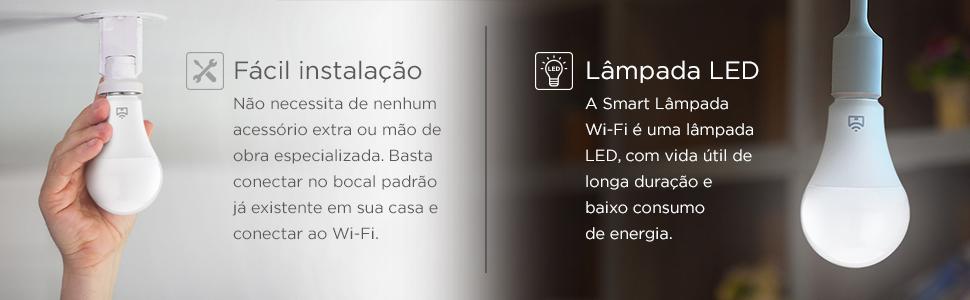 Positivo Casa Inteligente IOT Smart Lâmpada Wi-Fi