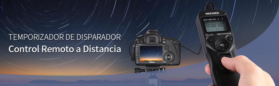 Neewer® LCD Temporizador Disparador a Distancia de Control Remoto ...