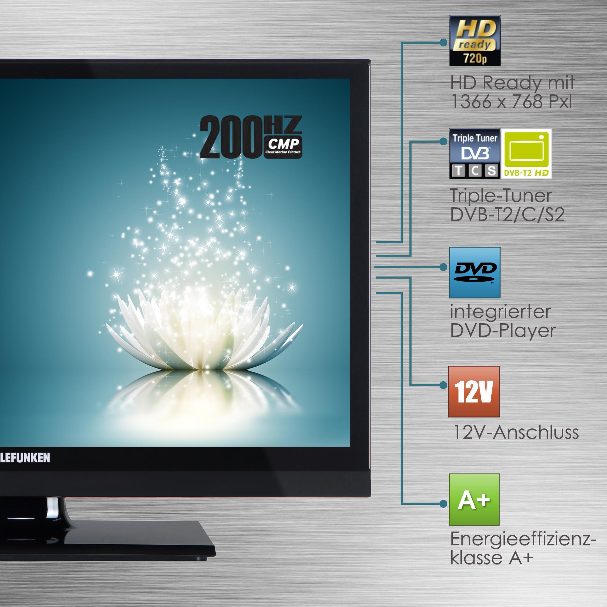 Telefunken XH20A101VD 51 cm (20 Zoll) Fernseher (HD-ready