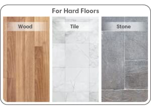 A picture of hard floor types, depicting wood, tile, and stone flooring.