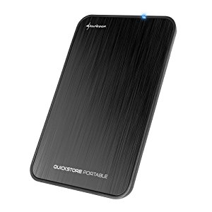 Sharkoon QuickStore Portable - Carcasa Externa de Disco Duro, USB 3.1, Negro