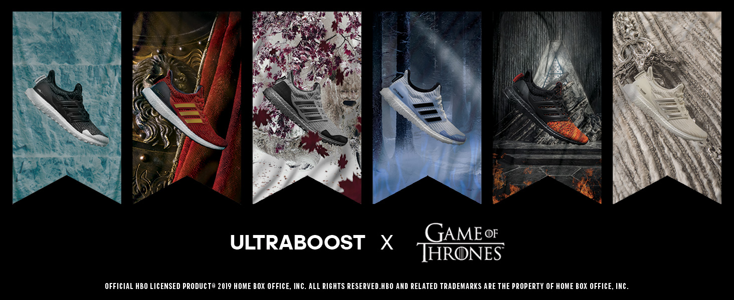 ADIDAS ULTRABOOST GAME Of Thrones Nights Watch Black Men