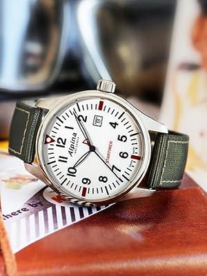 Alpina Startimer Swiss Pilot Watch, Men's Watch, Swiss Movement, Swiss Made,