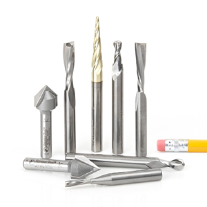 Point Roundover Amana AMS-177-K 8-Pc CNC Router Bit Collection feat V-Grooves