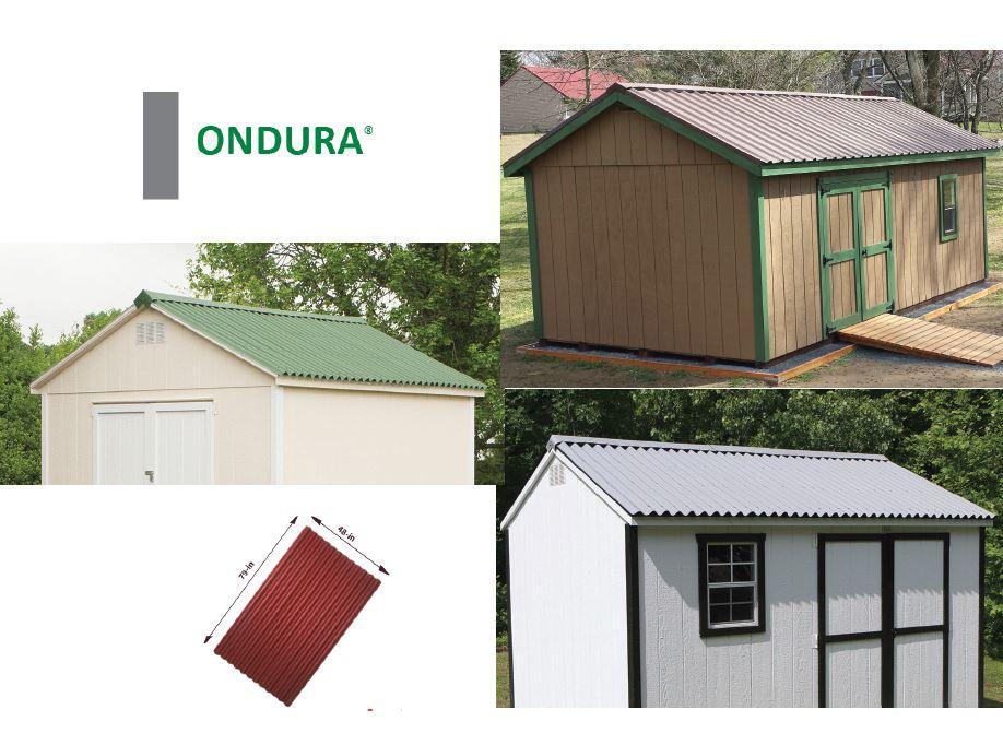 Ondura 100 Corrugated Asphalt Roofing 10 Pack Gray