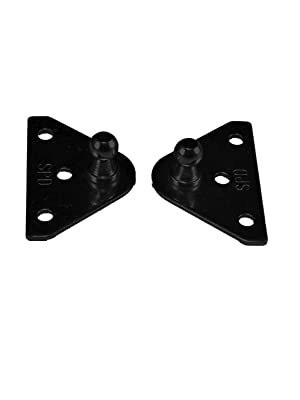 Quantity 4 JR Products BR-12553 10mm Angled Gas Spring Mounting Bracket Pair