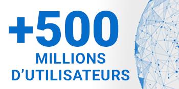 500 millions d'utilisateurs