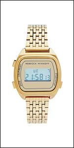 REBECCA MINKOFF, watch, digital watch, digital, gold plated, gold, danni