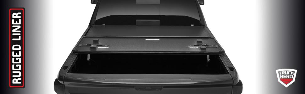Amazon Com Rugged Liner Hc3 Premium Hard Folding Truck Bed Tonneau Cover Hc3 Hrl17 Fits 2017 2021 Honda Ridgeline 5 4 Bed 64 Automotive