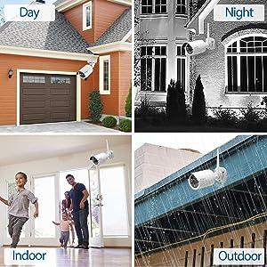 security cameras indoor outdoor water resist garage front door yard driveway