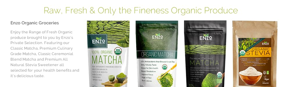 enzo organic products stevia extract power , matcha green tea
