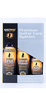 guitar cleaner, guitar polish, guitar fretboard oil, microfiber cloths for guitars, guitar clean kit