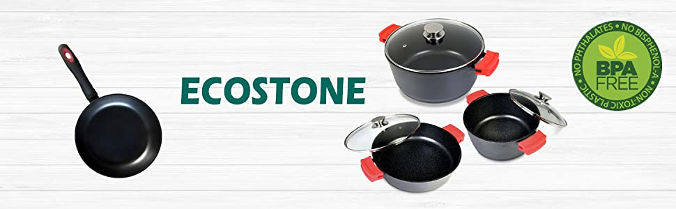 WeCook 10010 Sarten Antiadherente Induccion Vitrocerámica y Fogón, Aluminio, 18 cm, Sin PFOA ni BPA