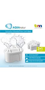 TM Electron Lot de 4 à 8 mois de filtres à eau compatibles avec les carafes Maxtra