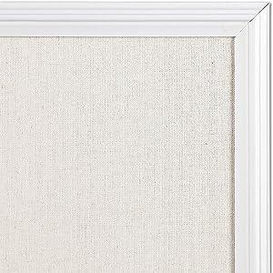 White linen cork board