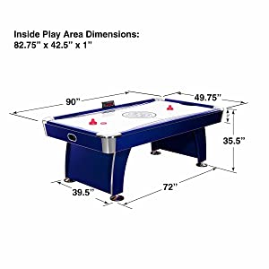 Air Hockey 7 8 Foot Family Game Room Table