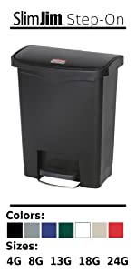 Rubbermaid Home House Kitchen Bathroom Trash Can Garbage Bin Recycling Container Plastic Step-On