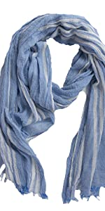 Tickled Pink blue summer scarf