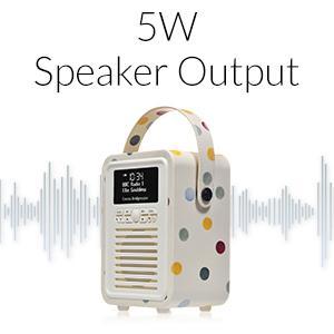 VQ, Emma Bridgewater, DAB, Digital Radio, Bluetooth Speaker, Retro Radio, Kitchen Radio, Retro Mini