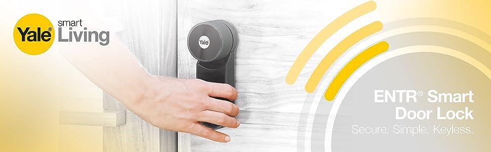 yale, smart door lock, yale ENTR