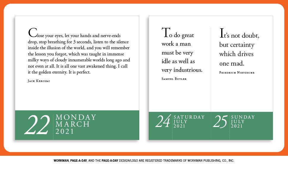 Wake Tech Calendar 2022.Amazon Com Zen Page A Day Calendar 2021 9781523509164 Schiller David Workman Calendars Books