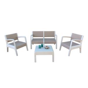 Shaf Miami - Conjunto muebles jardín/terraza, color piedra: Amazon ...