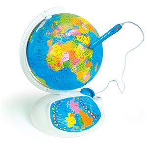 Clementoni 61302 explore the world the interactive globe toy an interactive globe to discover the beauties of the world and solve fun riddles more than 500 questions subdivided into three levels of growing difficulty gumiabroncs