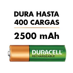 batería duracell 2500mAh