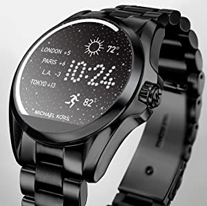amazon com michael kors access touch screen rose gold bradshaw smartwatch touchscreen watch michael kors fitness tracker smart notifications fashion