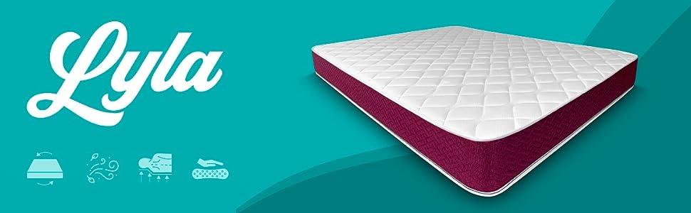 - Modello Lyla Duermete Online Dispositivo medico detraibile lato invernale-estato Materasso una piazza e mezza 120x190 cm reversibile