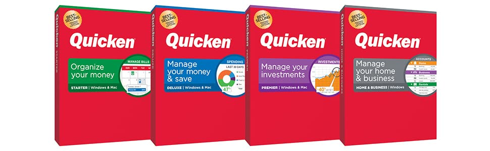 Quicken Deluxe Personal Finance Management Budget Software Computer Laptop iPhone Android