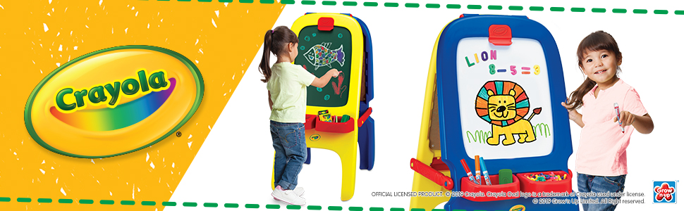 Amazon.com: Crayola Magnetic Double-Sided Easel: Toys & Games