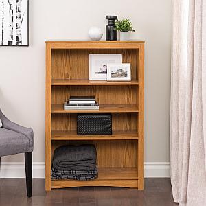Prepac ODL-3248 4-shelf Bookcase, Oak