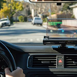 Hudly Wireless Head-Up Display (HUD) for All Cars, Available for iOS and  Android