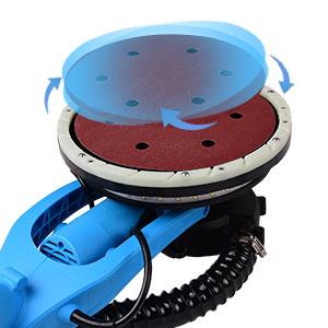 YIJIN Lijadora de Pared 800W, 13 discos de lijado, 6velocidades, Sistema de Autolimpieza, Cabezal giratorio de 225 mm,Base de lijado desmontable, Mango Telescópico, Luces LED: Amazon.es: Bricolaje y herramientas