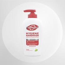 Lifebuoy zeep met pompje voor het reinigen van je handen, met bacteriën er om heen