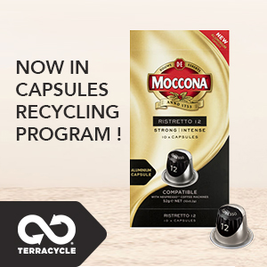 Moccona coffee, moccona capsules, coffee machine, recyclable capsules, recycling, sustainable