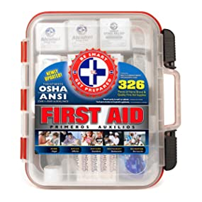 Be Smart Get Prepared First Aid Kit 326 Piece First Aid Kit