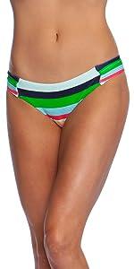 Deco stripe slimming flattering tucking sleek cute sexy designer swimsuit miraclesuit seafolly