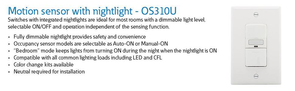 Eaton Os310u W K Core Savant Motion Sensor Switch 120 Vac