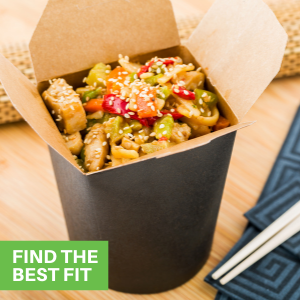 Featuring a variety of colors, these paper food containers complement your party's theme.