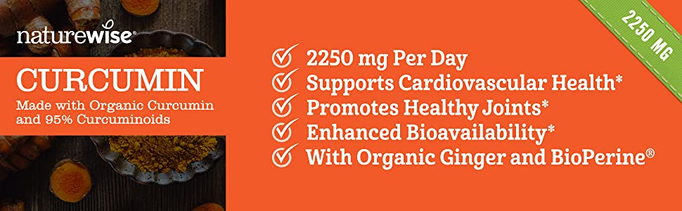 curcumin, NatureWise, heart health