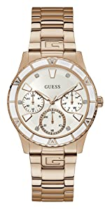 guess; guess watches; valencia watch; rose gold watch; ladies watch; womens watch
