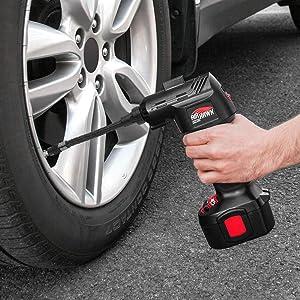 High Street TV AIRHM MAX Air Compressor Car Pump Pressure Gauge Portable Air Compressors Black