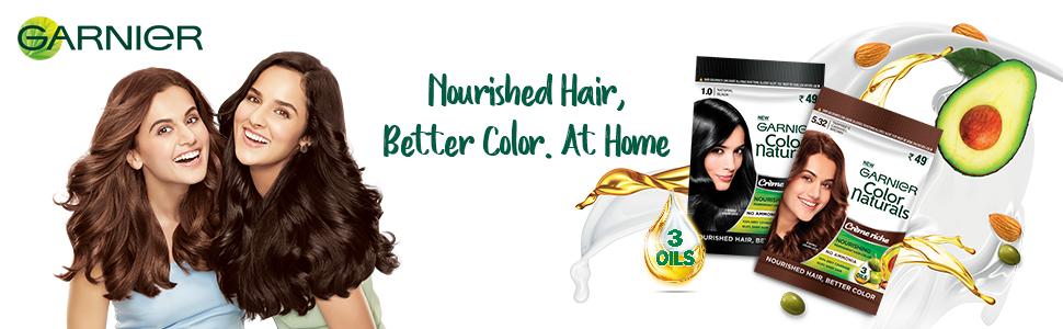 Garnier color naturals at home, sachet hair color, colour
