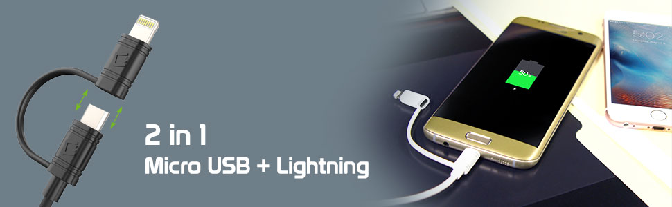 micro usb and lightning