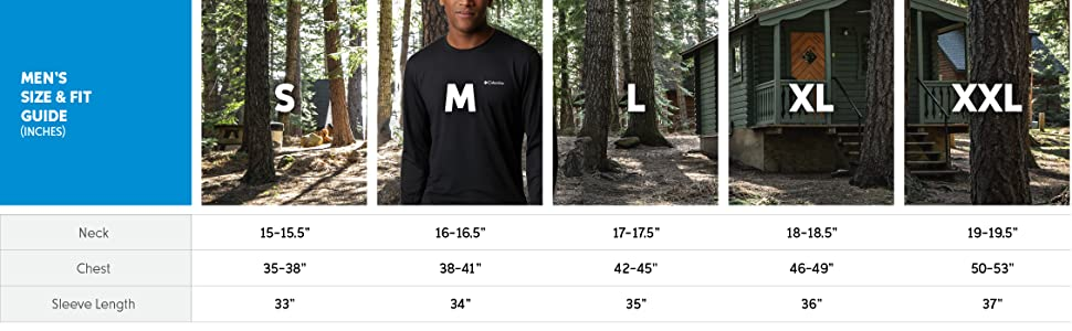 Men's shirt size and fit guide