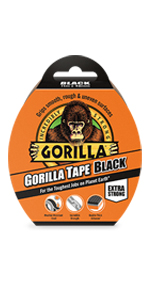Gorilla Tape 11m Zwart