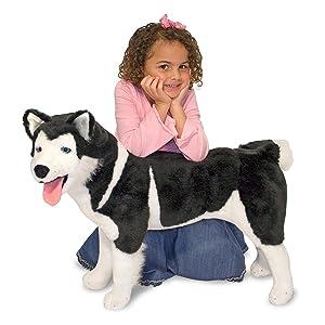 Amazon.com: Melissa & Doug Giant Siberian Husky - Lifelike